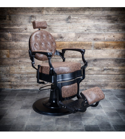 Fauteuil barbier marron design