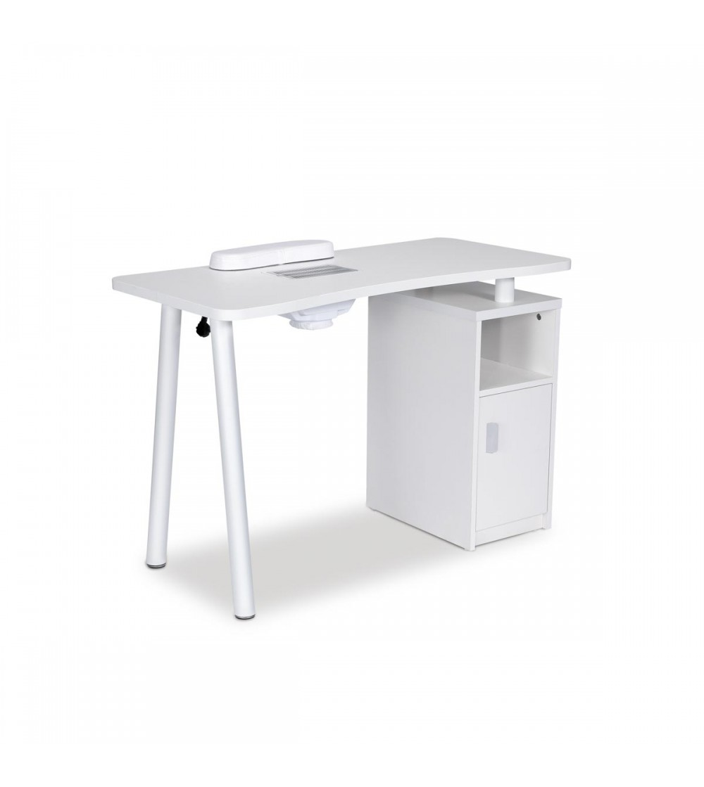 Manicure table equipped with a vacuum and dust collector